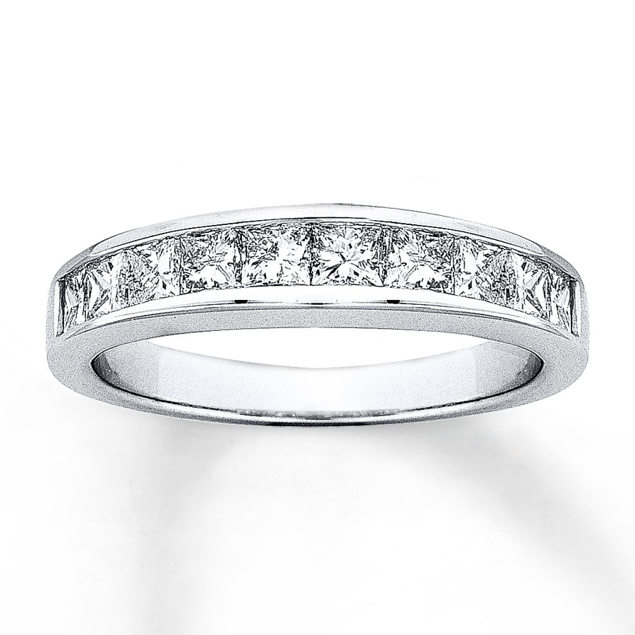 platinum main eternity carat bands ring band diamond asscher cut anniversary