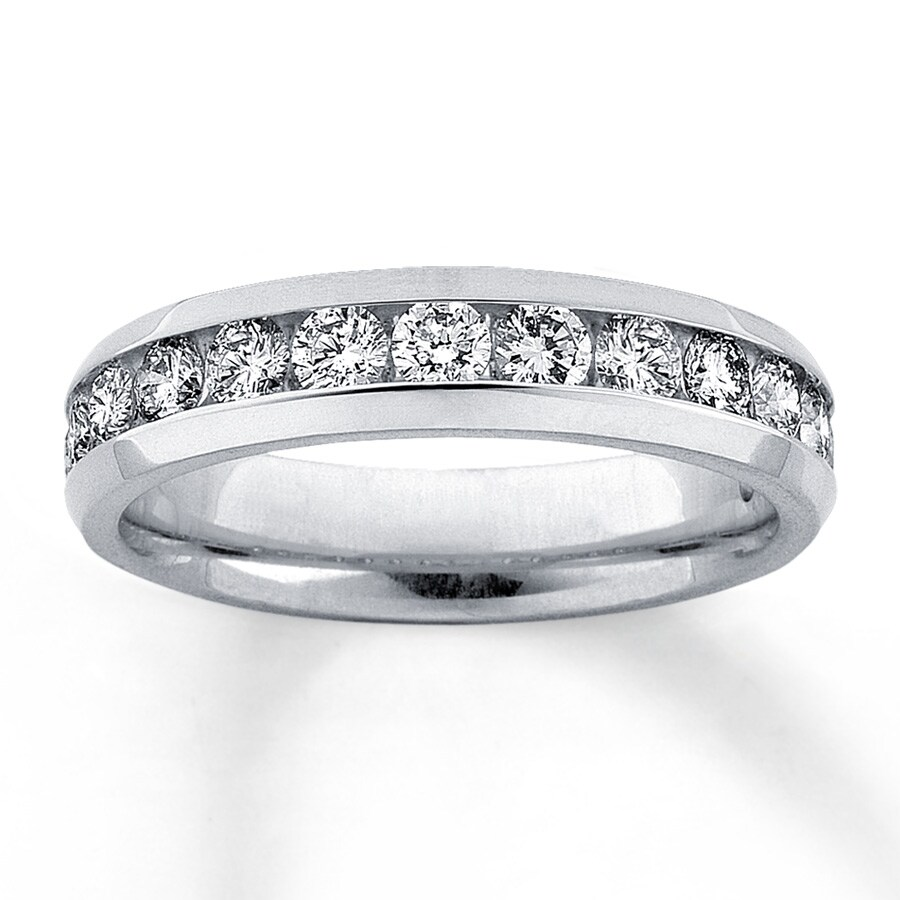 Diamond Anniversary Band 1 Ct Tw Round Cut 14k White Gold
