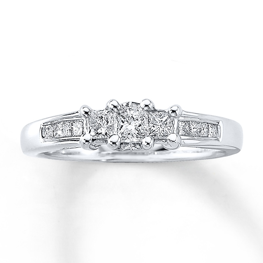 floating anniversary bands in eternity ct ring platinum tw diamond over pin