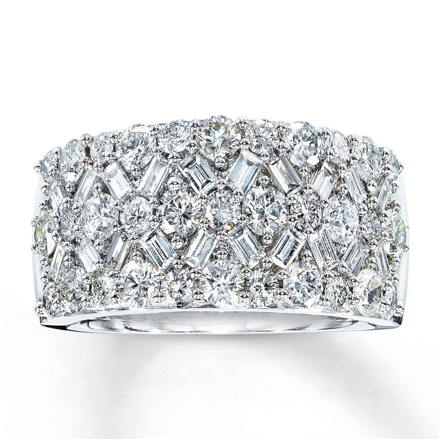 Jared Diamond Anniversary Ring 2 1 6 ct tw Diamonds 14K White Gold
