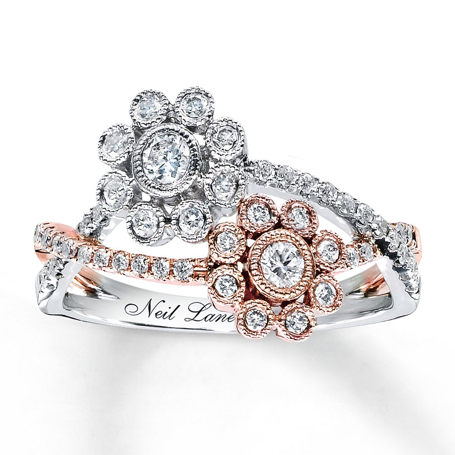 Jared Neil Lane Designs Ring 1 2 Ct Tw Diamonds 14k Two
