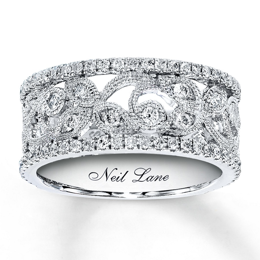 jared - neil lane designs ring 3/4 ct tw diamonds 14k white gold