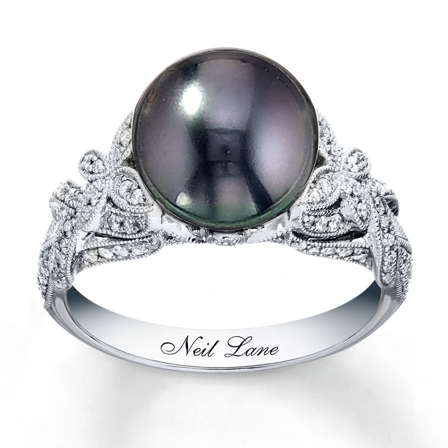 Jared Neil Lane Designs Ring Black Cultured Pearl 14k