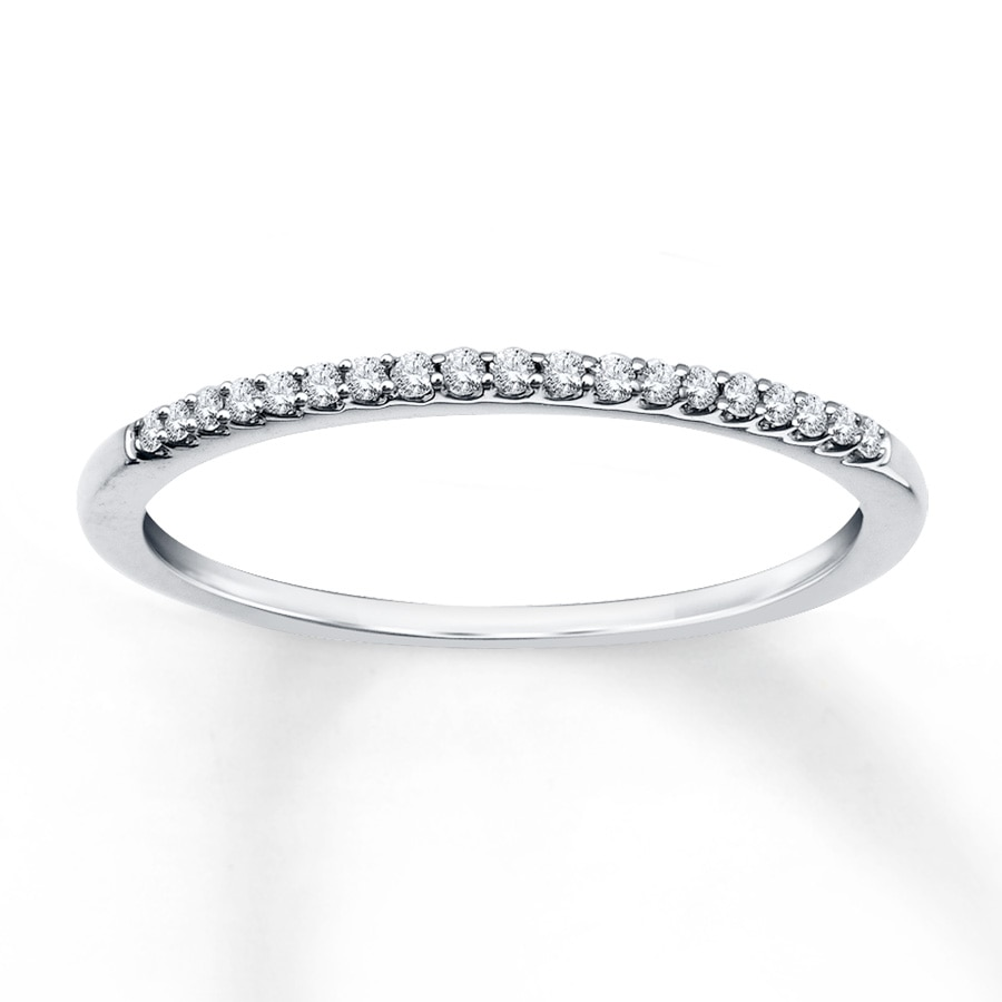 Jared Diamond Anniversary Ring 110 ct tw Roundcut 10K White Gold