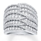 Diamond Anniversary Band 2 1/2 ct tw Round-cut 14K White Gold