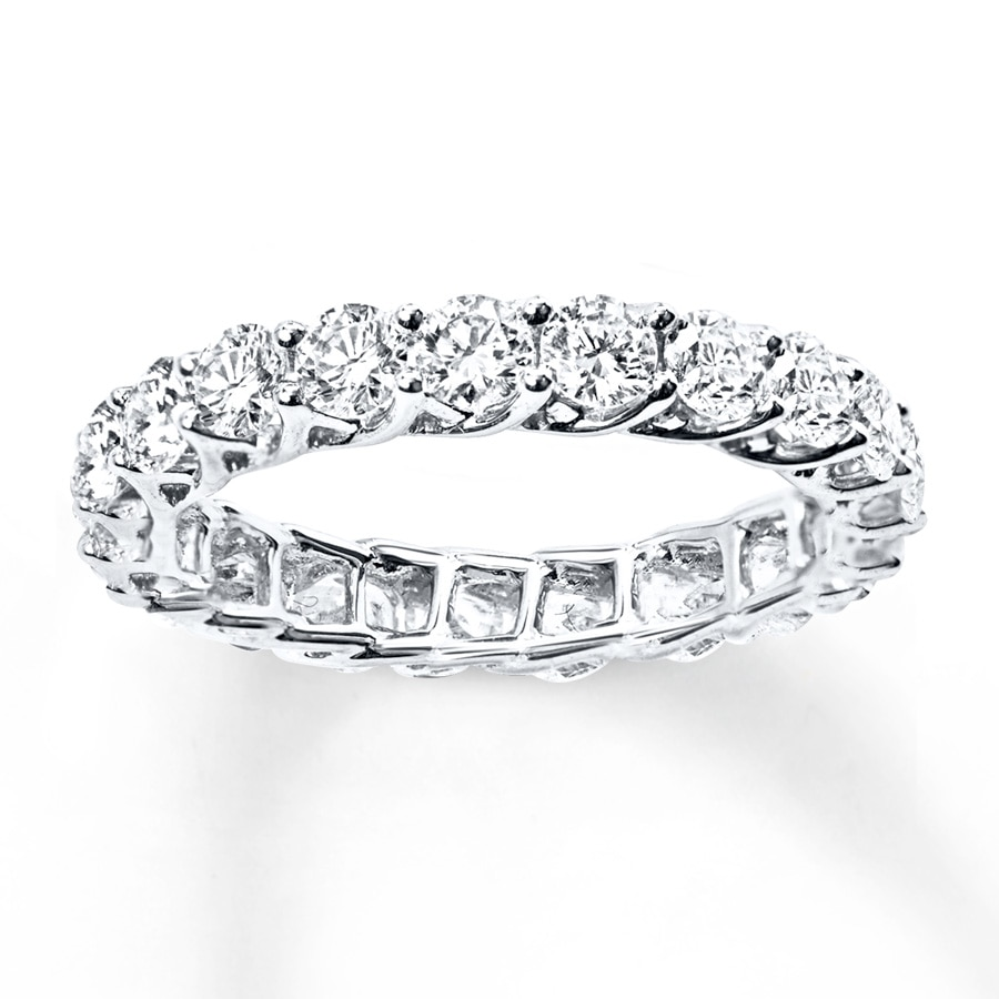 ct gold carat diamond white accents with engagement eternity g bands h band round si ring solitaire