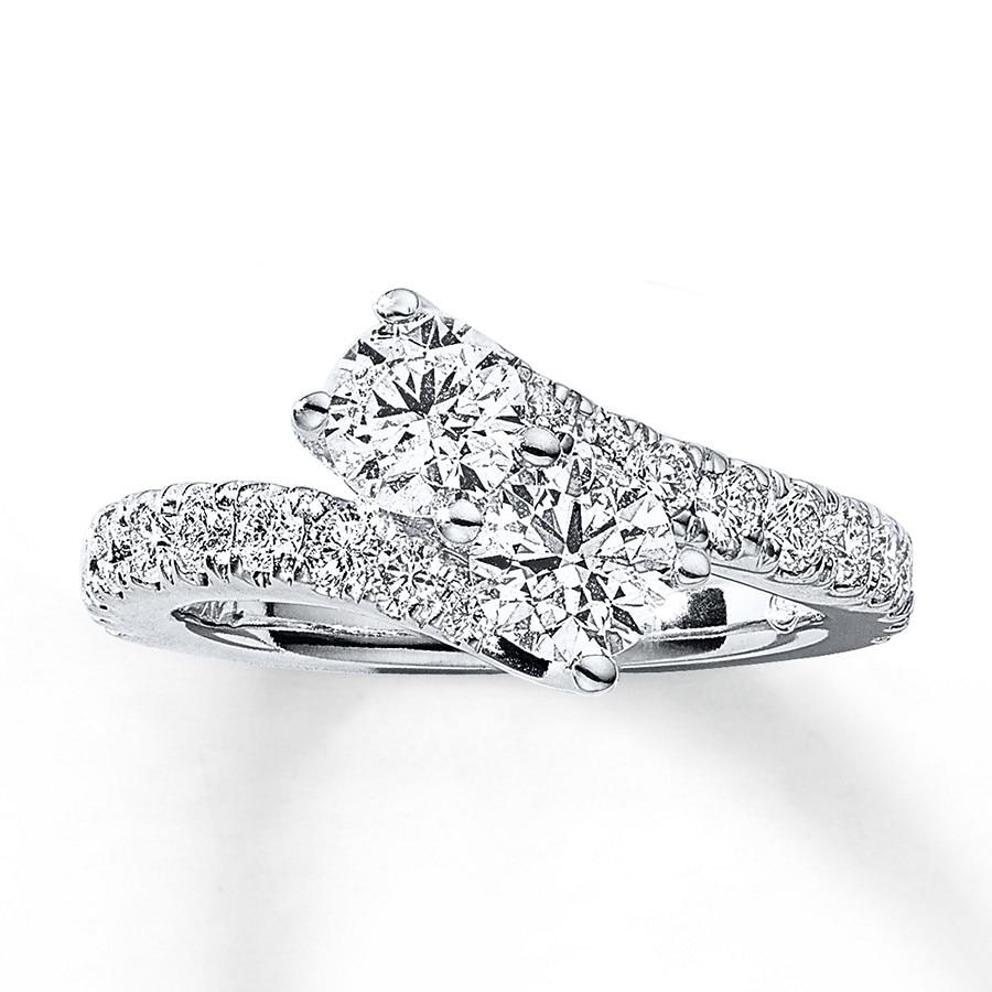 Jared Ever Us TwoStone Ring 2 ct tw Diamonds 14K White Gold