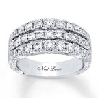 Neil Lane Anniversary 1 1/2 ct tw Diamonds 14K White Gold Band