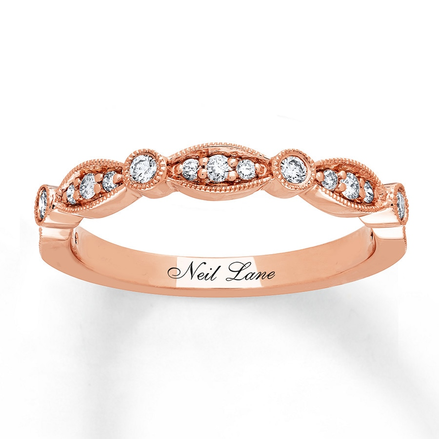 Neil lane diamond band 14 carat tw 14k rose gold 532430105 jared hover to zoom junglespirit Choice Image