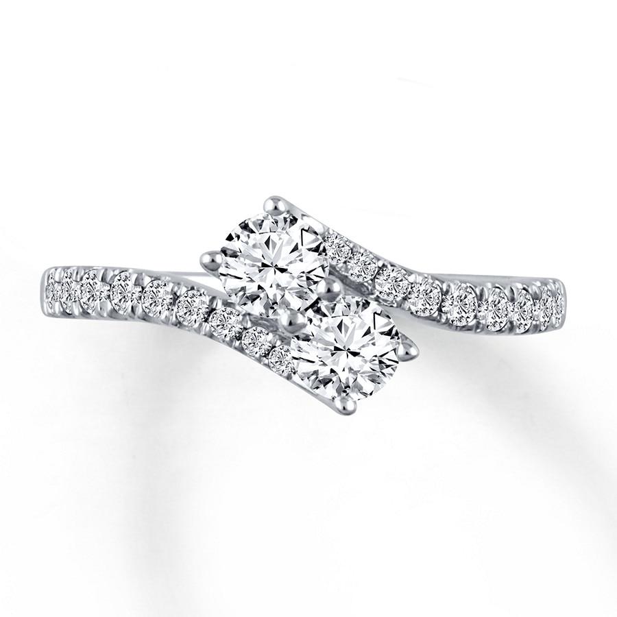 Jared Ever Us TwoStone Ring 1 ct tw Diamonds 14K White Gold