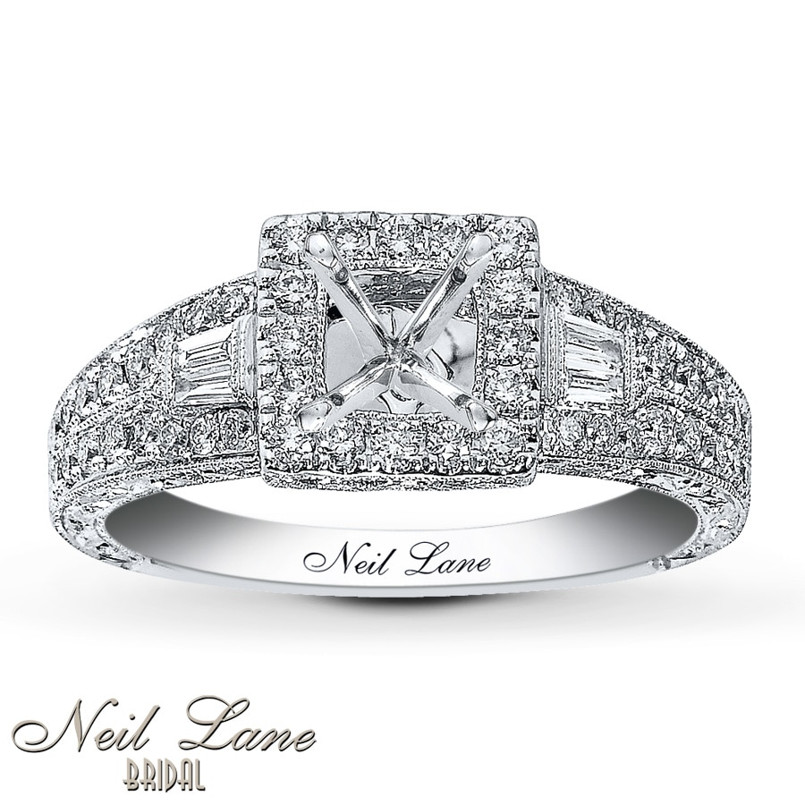 jared - neil lane ring setting 5/8 ct tw diamonds 14k white gold