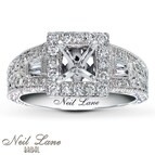 Neil Lane Ring Setting 3/4 ct tw Diamonds 14K White Gold