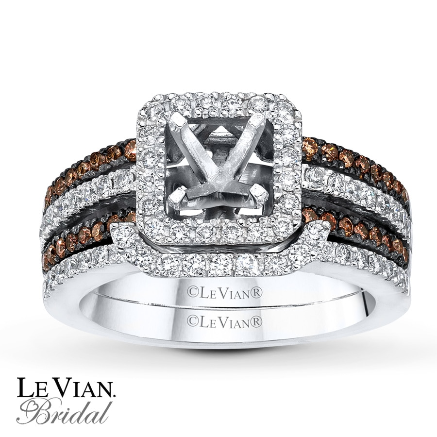 Jared LeVian Chocolate Diamonds 58 ct tw Bridal Setting 14K Gold
