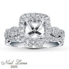 Neil Lane Bridal Setting 3/4 ct tw Diamonds 14K White Gold