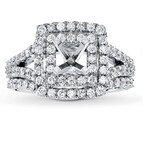 Diamond Bridal Setting 1 1/4 ct tw Round-cut 18K White Gold