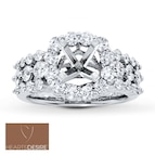 Diamond Ring Setting 1 5/8 ct tw Ideal-cut 18K White Gold