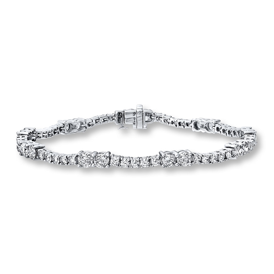 Jared Ever Us TwoStone Bracelet 7 ct tw Diamonds 14K White Gold