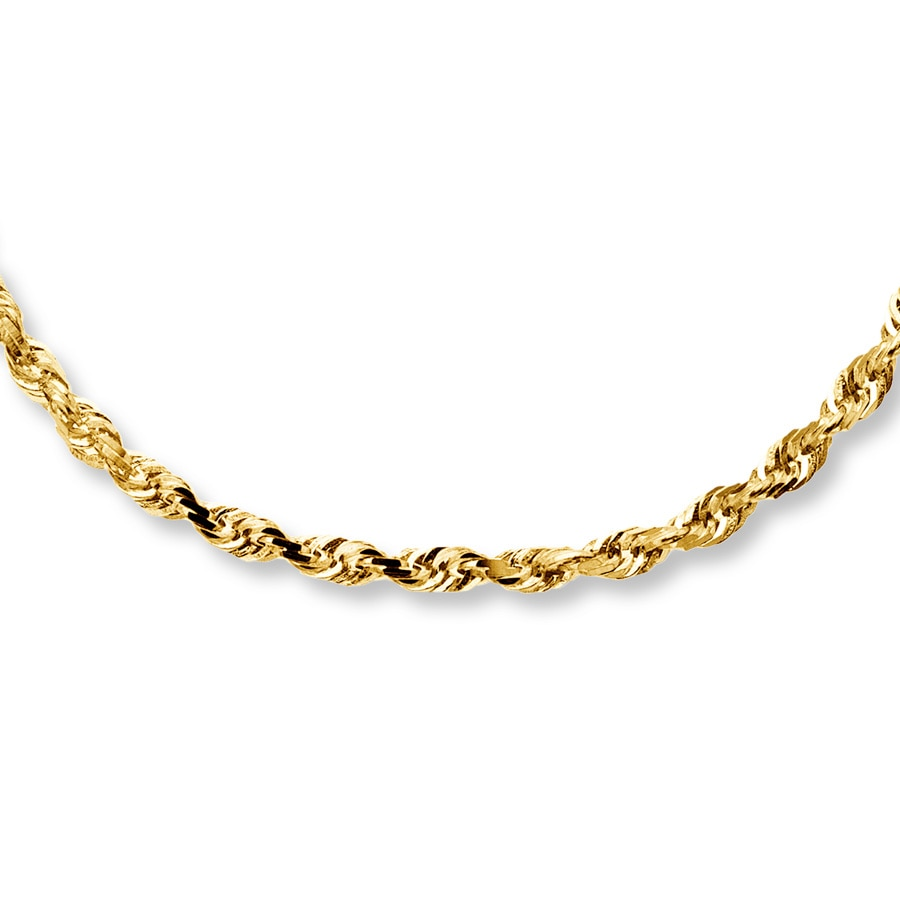 Jared Rope Necklace 10K Yellow Gold 20 Length