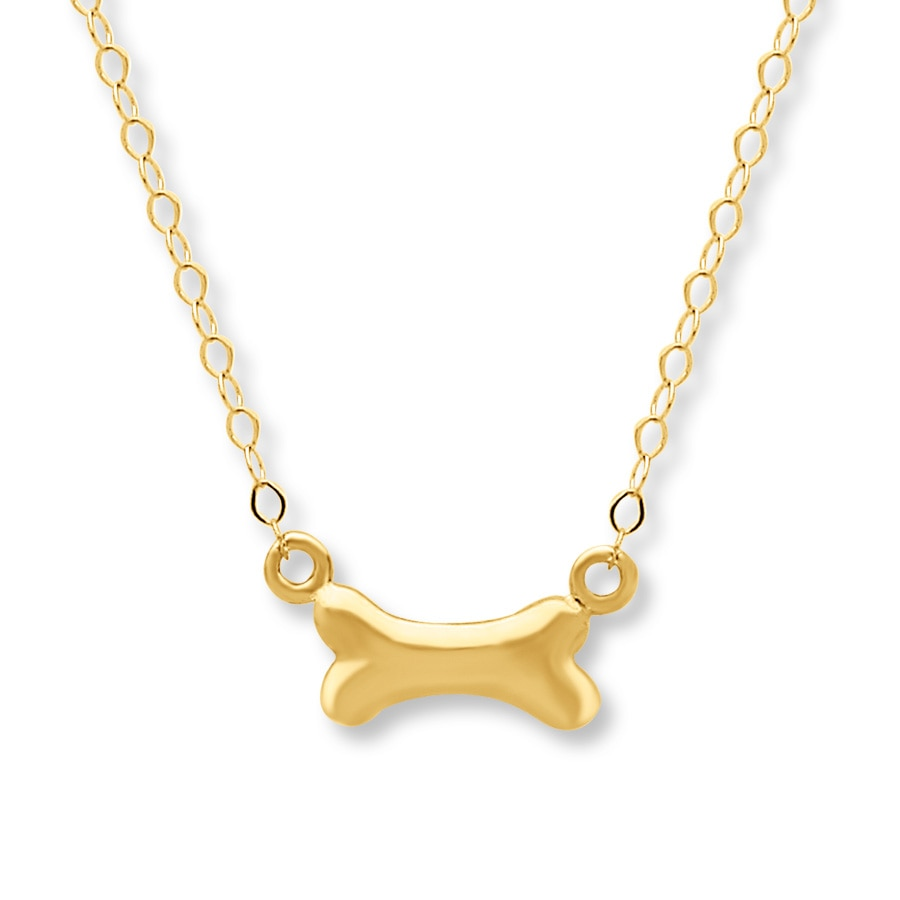 Jared Dog Bone Necklace 14K Yellow Gold