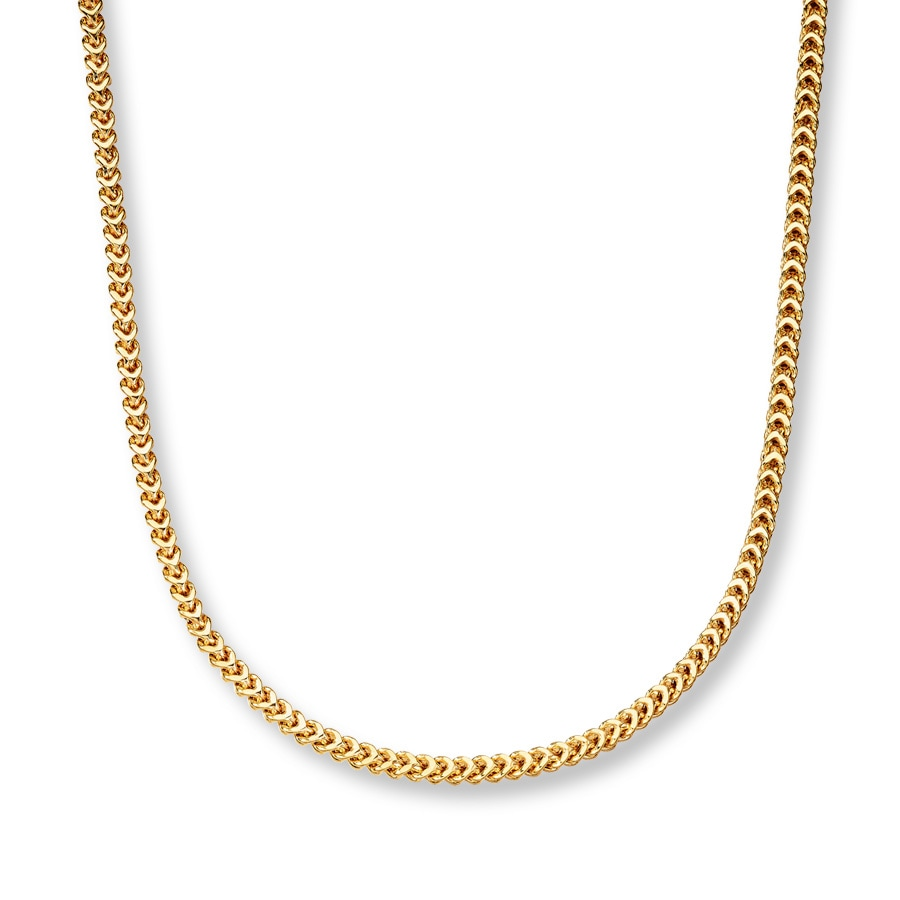 Jared Mens Franco Chain Necklace 10K Yellow Gold 22 Length