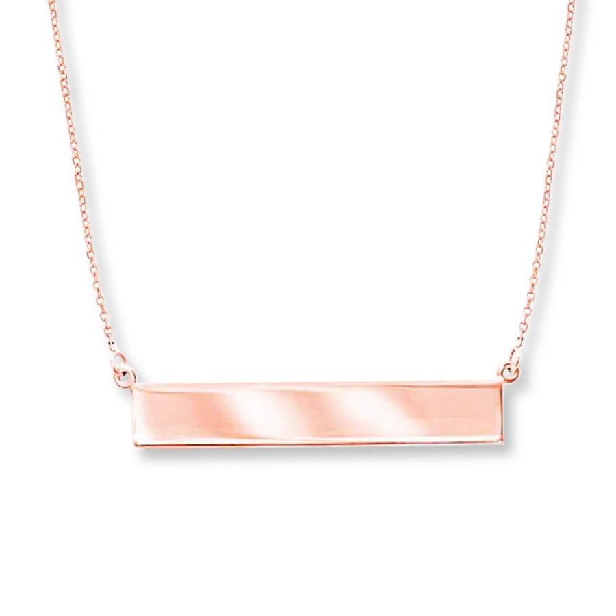 Jared Bar Necklace 14K Rose Gold