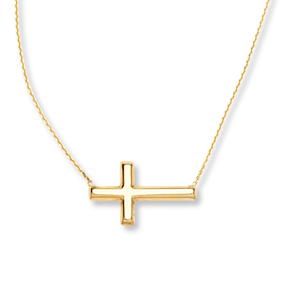 product opulenza sideways cross silver necklace sterling img designs
