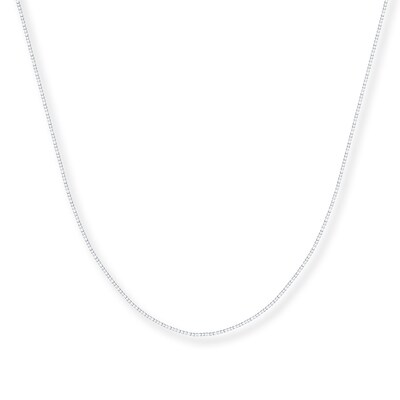 "Box Chain 14K White Gold 22"" Length"