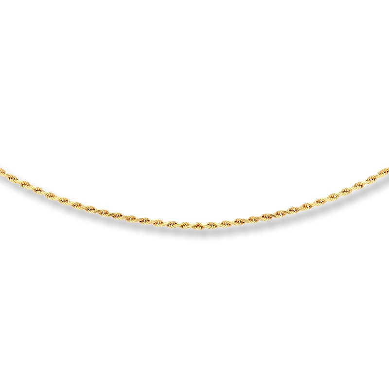 Rope Chain 10k Yellow Gold 16 24