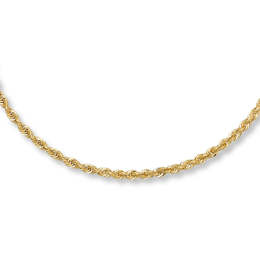 cdca9ade6ff6b Rope Necklace 14K Yellow Gold 22