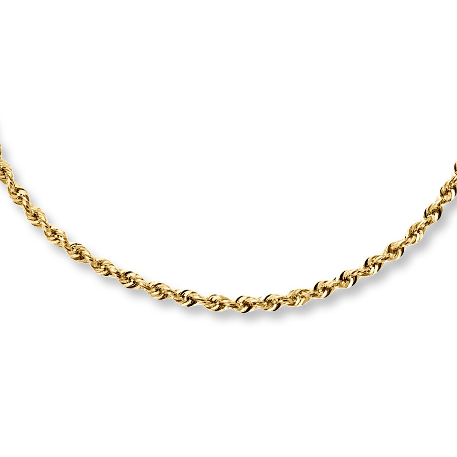 89756c7636d7f Rope Necklace 14K Yellow Gold 24