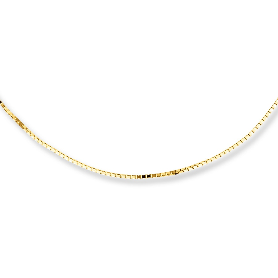 Jared Box Chain Necklace 10K Yellow Gold 22 Length