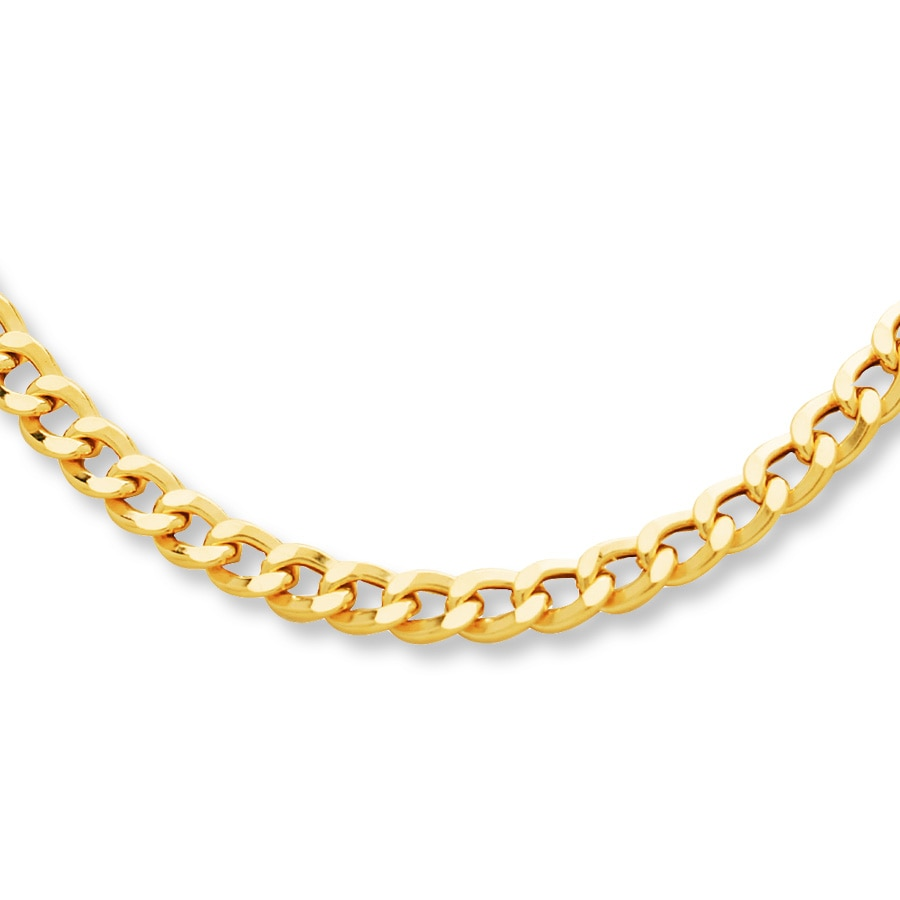 Jared Curb Link Necklace 10k Yellow Gold 22 Quot Length