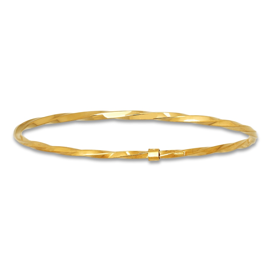 14k Gold Allurez Fancy Mesh and Flexible Stretch Bangle Bracelet