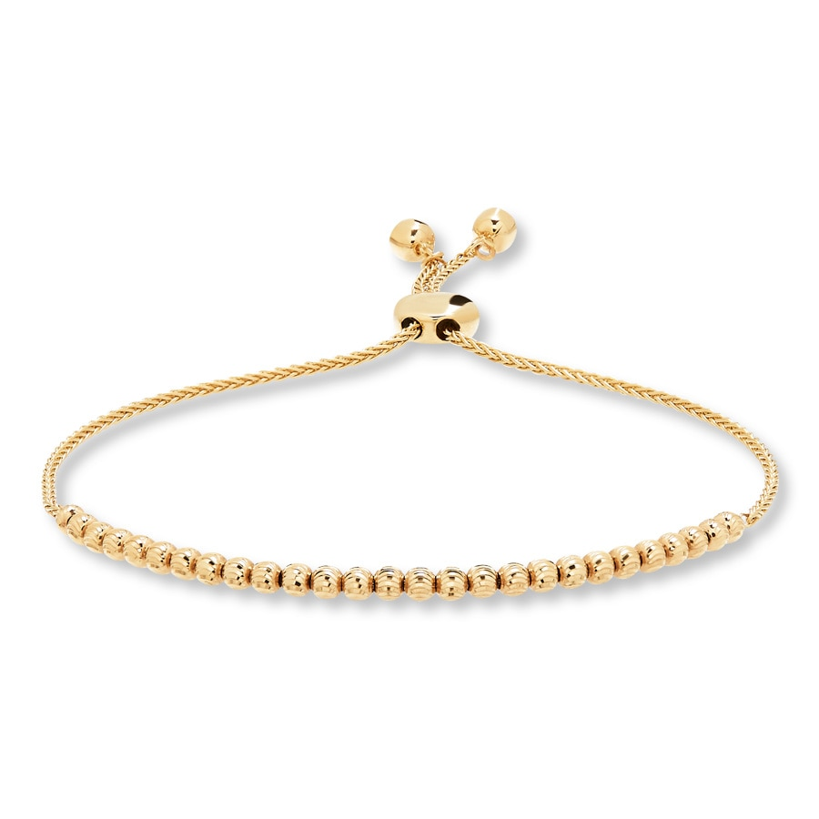 gold tw bolo slider amour diamond ct link bracelet white in adjustable