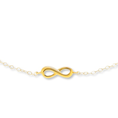 "Young Teen Infinity Symbol Bracelet 14K Yellow Gold 6.5"" Length"
