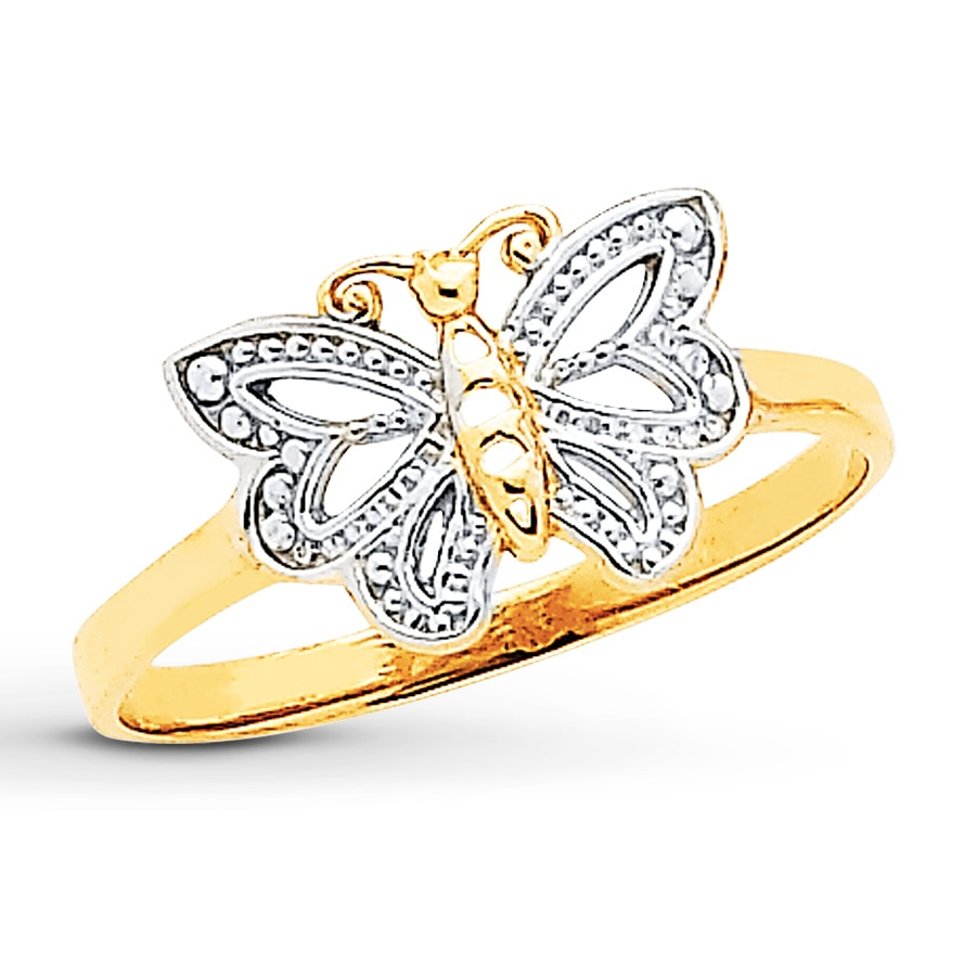 ring fashionable affordable rings mod butterfly product price compressor at plated gold with