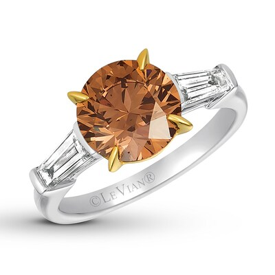 Le Vian Chocolate Diamond Ring 3-5/8 ct tw 18K Vanilla Gold
