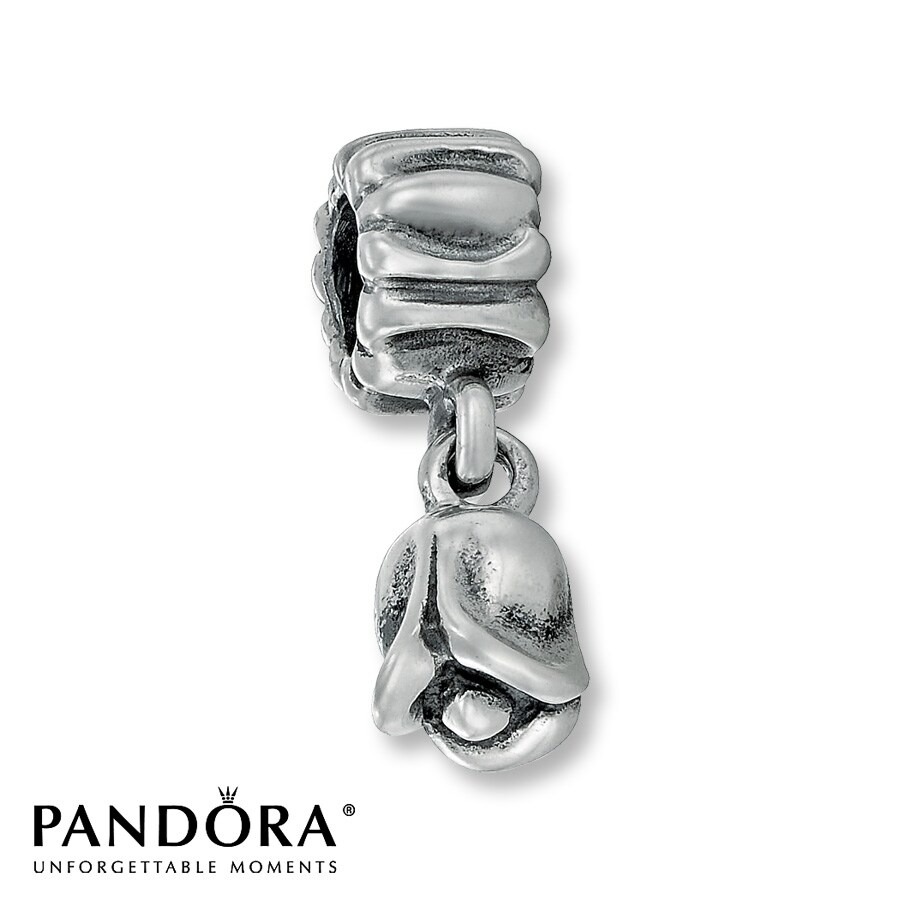 Jared Pandora Dangle Charm Tulip Sterling Silver