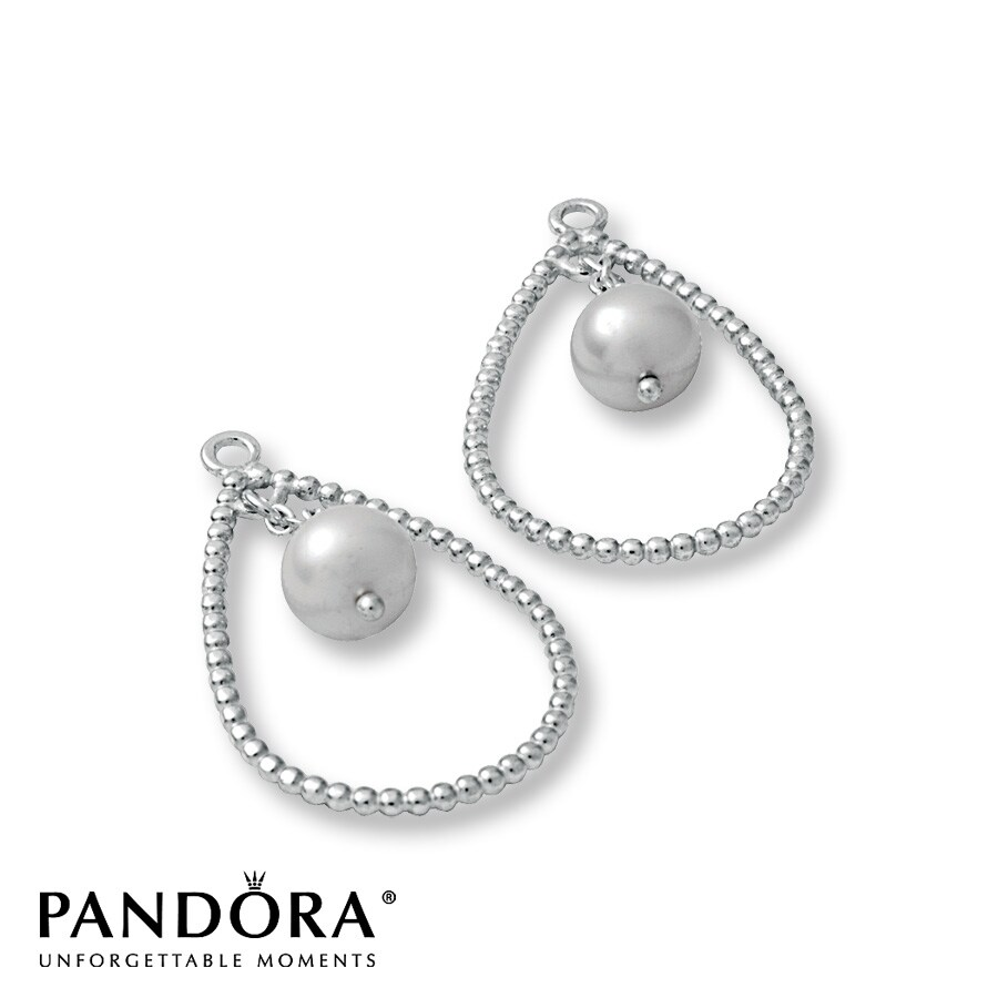 Pandora Drop Earrings: Pandora Earring Charms White Cultured Pearl