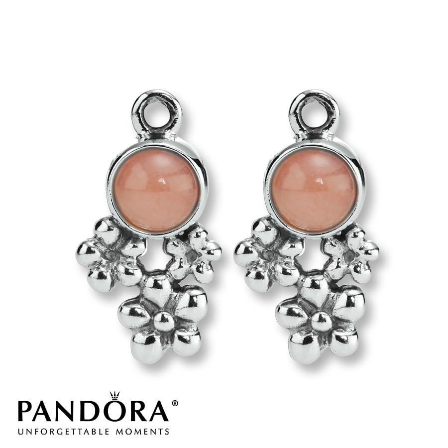 Pandora Clip On Earrings: Pandora Pink Opal Charm