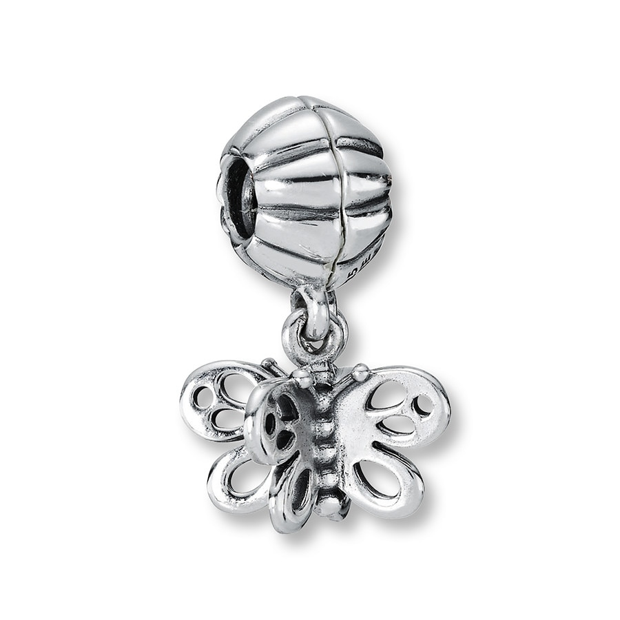 Charms & Charm Bracelets Jewelry & Watches Usa Easy To Repair Antique Silver Butterfly Dangle Charm For Living Lockets Or Bracelets