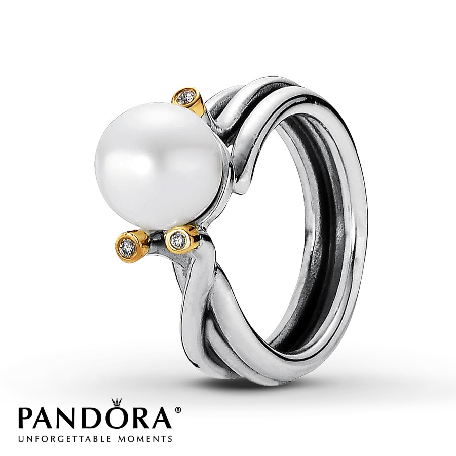 cz with diamond gold pandora clear charm affection