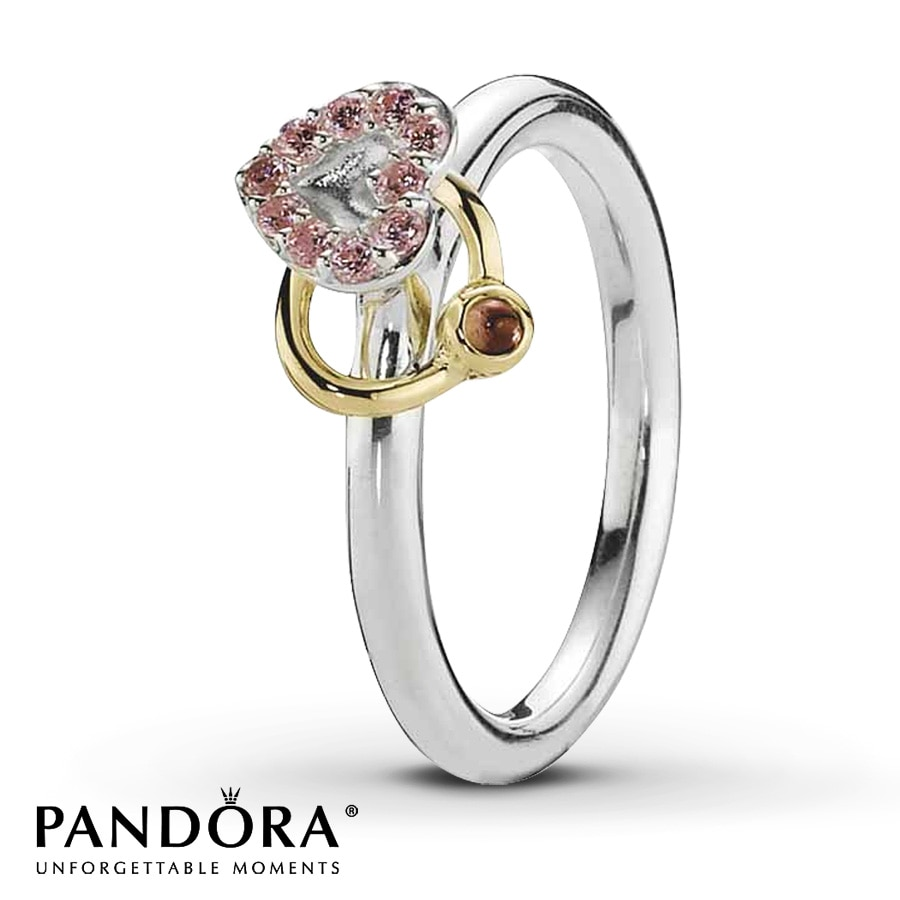 jared pandora ring pink cz garnet sterling
