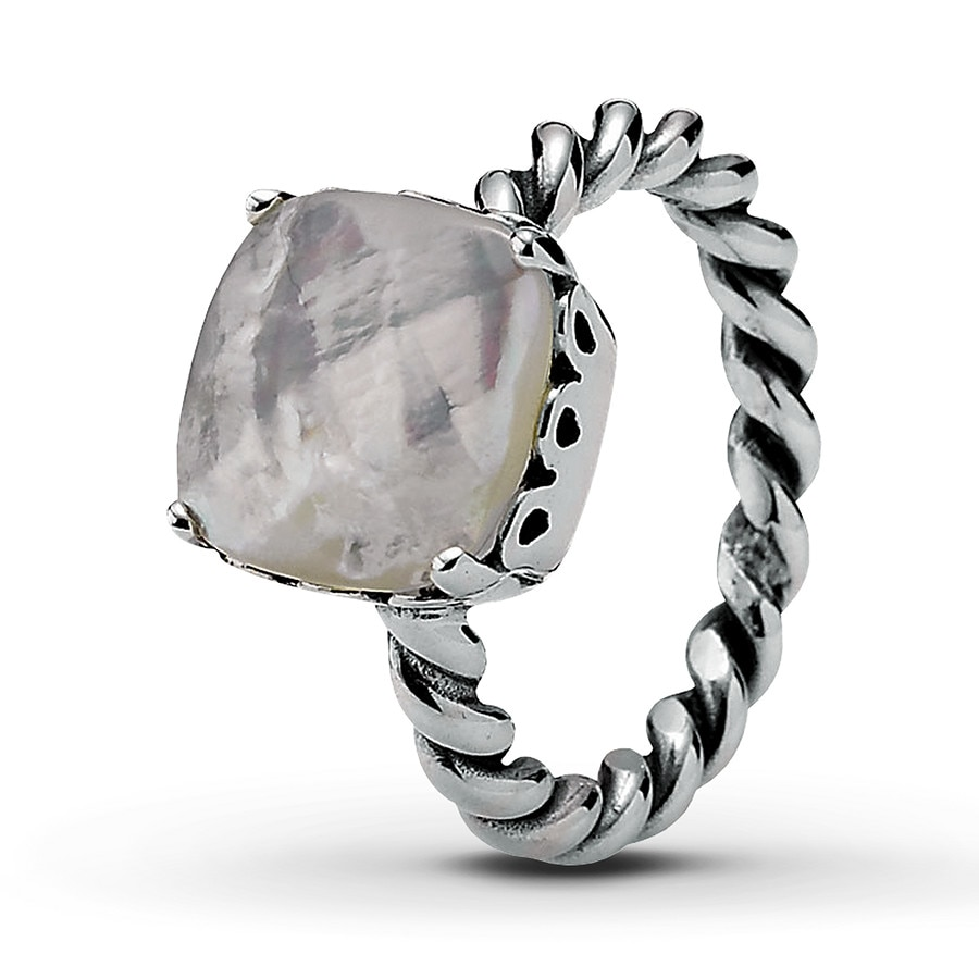 Jared PANDORA Path Ring Mother of Pearl Sterling Silver
