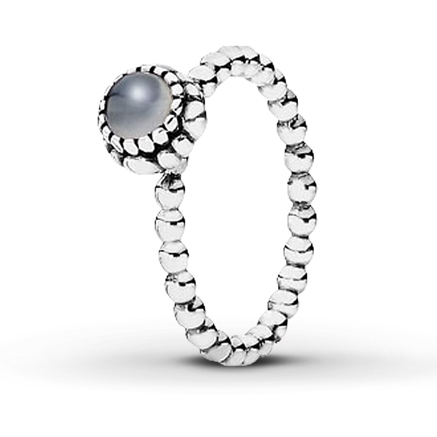 Jared PANDORA Birthstone Ring Moonstone Sterling Silver