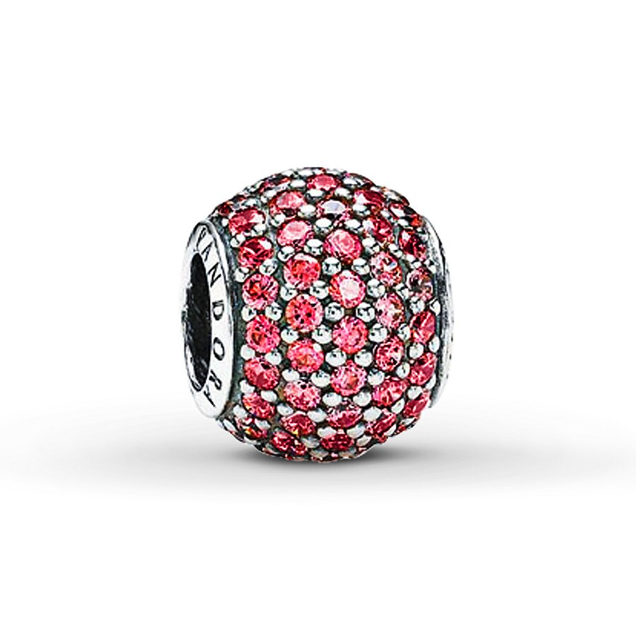 jared pandora charm pink cz sterling silver. Black Bedroom Furniture Sets. Home Design Ideas
