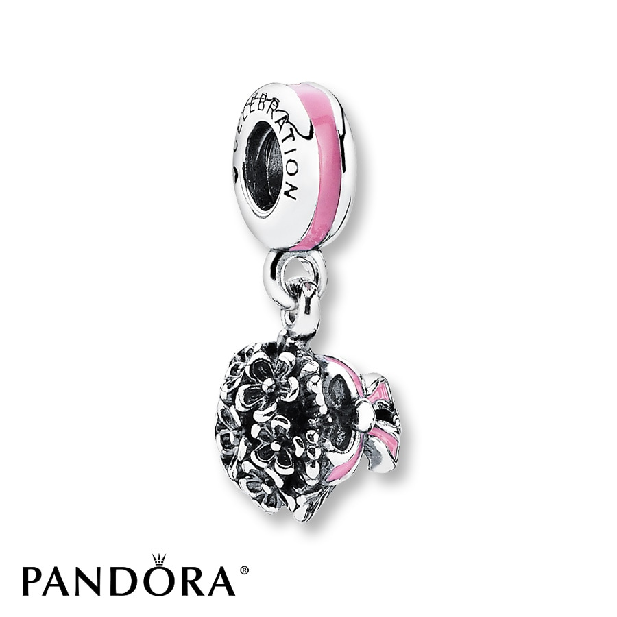 Jared PANDORA Dangle Charm Celebration Bouquet Sterling Silver