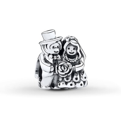 PANDORA Charm Now Mr.   Mrs. Sterling Silver- Beads