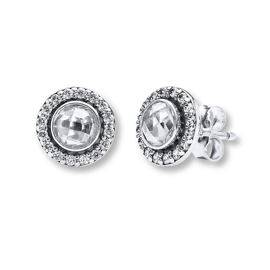 Pandora Silver Stud Earrings: PANDORA Earrings Brilliant Legacy Sterling Silver