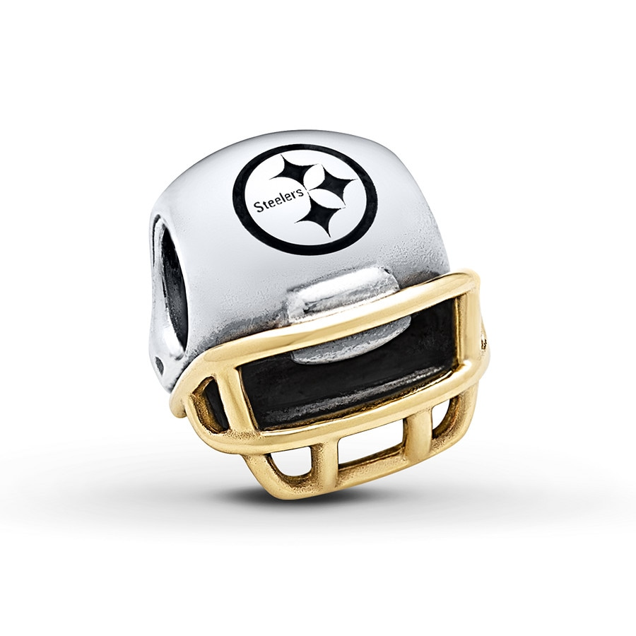 Jared PANDORA Charm Pittsburgh Steelers Sterling Silver14K Gold